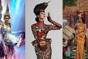 Ngắm trang phục dân tộc các nước Đông Nam Á, netizen lo lắng cho Khánh Vân vì lý do này