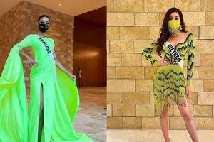 Soi sự cố rách váy của Hoa hậu Thái Lan mới thấy Khánh Vân lựa chọn trang phục cực tinh tế
