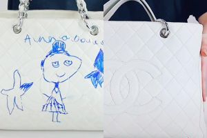 Phục hồi túi Chanel 2.800 USD bị con vẽ bậy