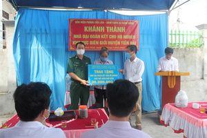 BĐBP Thái Bình bàn giao nhà 'Đại đoàn kết' cho hộ nghèo