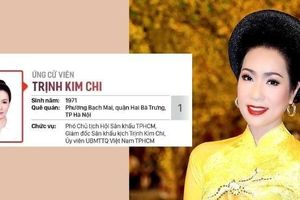 NSƯT Trịnh Kim Chi ứng cử Đại biểu HĐND TP.HCM