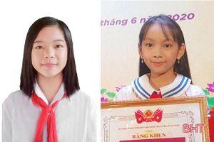 2 học sinh Hà Tĩnh được trao tặng giải thưởng Kim Đồng