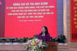 Phó Chủ tịch nước kiểm tra công tác bầu cử tại Lâm Đồng