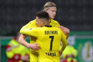 Haaland và Sancho tỏa sáng, Dortmund vô địch cúp Quốc gia Đức