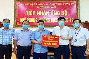 Công ty Điện lực Bắc Giang ủng hộ 120 triệu đồng phòng, chống dịch Covid-19