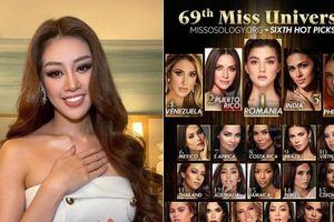 Càng gần đến đêm chung kết Miss Universe 2020, Khánh Vân càng thăng hạng trên các chuyên trang sắc đẹp thế giới