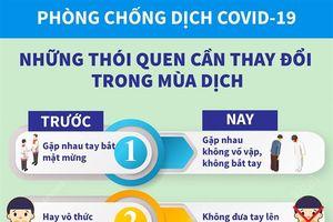 Infographis: Phòng, chống dịch COVID-19 - Những thói quen cần thay đổi trong mùa dịch