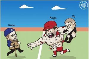 Biếm họa 24h: Hạ đẹp MU, Liverpool đe dọa top 4 Premier League