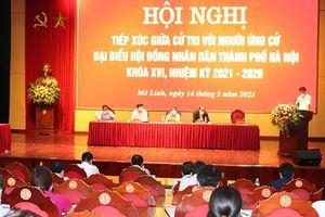 Người ứng cử đại biểu HĐND thành phố tiếp xúc cử tri huyện Mê Linh