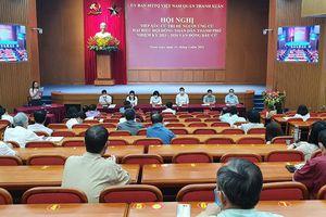 Các ứng cử viên đại biểu HĐND thành phố tiếp xúc cử tri quận Thanh Xuân