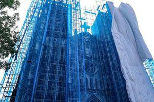 Nhà thờ Lớn Hà Nội dần thay đổi diện mạo sau khi được 'khoác áo mới'