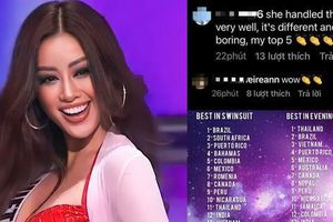 Miss Universe: Khán giả quốc tế thả 'bão tim' và khen phần thể hiện ấn tượng của Khánh Vân