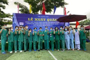 200 nhân viên y tế Quảng Ninh lên đường hỗ trợ Bắc Giang chống dịch Covid-19