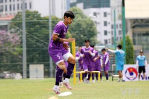 Đoàn Văn Hậu trở lại luyện tập cùng Đội tuyển