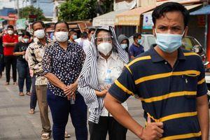 Covid-19 ở Campuchia: Tín hiệu vui, số ca mắc mới giảm 4 ngày liên tiếp, vẫn đóng cửa các chợ ở Phnom Penh
