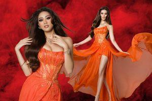 Khánh Vân diện trang phục mang cảm hứng Hừng đông tại bán kết Miss Universe 2020
