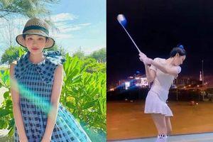 Hiền Hồ gia nhập 'hội mỹ nhân mê đánh golf' của V-Biz, động tác cực kỳ chuyên nghiệp