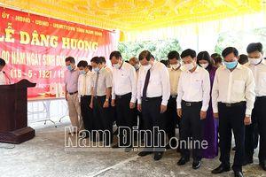Tưởng niệm đồng chí Nguyễn Cơ Thạch – Người con ưu tú của mảnh đất Thiên Bản lục kỳ