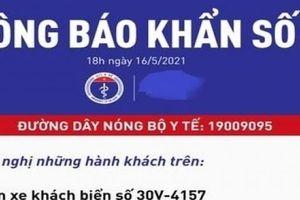 Bộ Y tế tìm người đi trên xe khách Hà Nội- Lạc Sơn, Hòa Bình