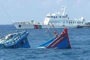 Tìm kiếm 2 thuyền viên mất tích sau khi tàu bị đâm chìm