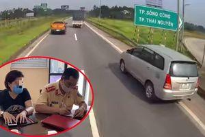 Nghi ngờ tài xế nữ 'thế thân' chịu phạt vụ Innova lùi xe trên cao tốc: CSGT mời mang bằng chứng!
