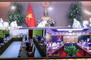 Thường trực BCĐ phòng, chống dịch họp với tỉnh Bắc Giang và Bắc Ninh