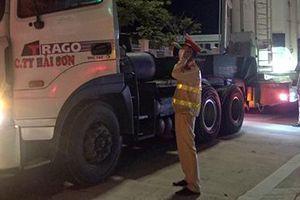 Xử lý xe siêu trọng vi phạm quá tải trên cao tốc Đà Nẵng – Quảng Ngãi