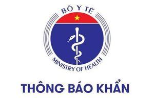 Bộ Y tế thông báo khẩn tìm người trên chuyến xe từ Hà Nội đi Hòa Bình