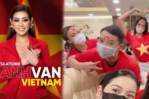 Sao Việt vỡ òa cảm xúc khi Hoa hậu Khánh Vân được xướng tên trong Top 21 Miss Universe