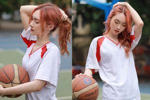 Nữ sinh Kinh tế quốc dân đam mê bóng rổ