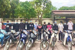 Triệu tập 30 thanh thiếu niên lập nhóm đua xe trái phép