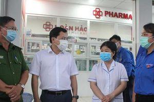 Bí thư thứ nhất T.Ư Đoàn thăm các chốt phòng chống dịch COVID-19 ở cửa ngõ TPHCM
