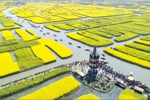 Phong cảnh hoa xuân đẹp hữu tình chỉ có ở Hưng Hóa, Trung Quốc