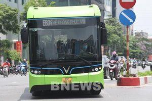 Xe buýt điện VinBus bắt đầu chạy thử nghiệm trong nội đô Hà Nội