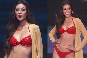 Chung kết Miss Universe: Khánh Vân diện bikini đỏ 'bung xõa': Body xịn xò, thần thái không có đối thủ