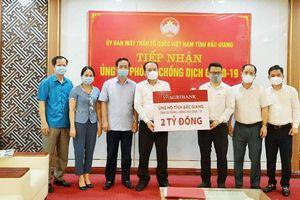 Nhiều cơ quan, đơn vị, địa phương ủng hộ Bắc Giang phòng, chống dịch