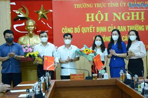 Công bố quyết định bổ nhiệm Phó Chánh Văn phòng Tỉnh ủy Quảng Ngãi