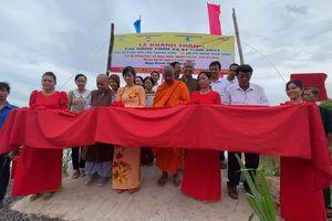 Trà Vinh: Chùa Long Bửu khánh thành cầu giao thông nông thôn số 41