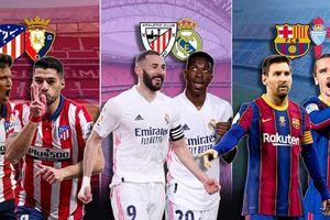 Barca tự loại mình khỏi cuộc đua vô địch, Atletico và Real đua song mã