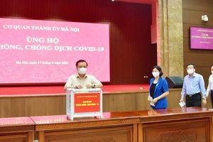 Thành ủy Hà Nội quyên góp ủng hộ Quỹ phòng, chống dịch Covid-19 thành phố