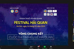 Chung kết Cuộc thi Tìm hiểu về Hải quan – Festival Hải quan 2021 được tổ chức trực tuyến