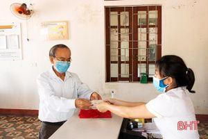Chi trả lương hưu, trợ cấp BHXH tháng 5, 6/2021 tại xã Tượng Sơn