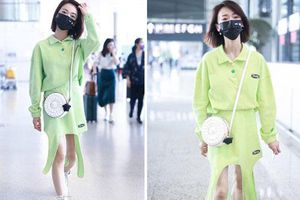 'Ngụy Anh Lạc' Ngô Cẩn Ngôn 'chơi cả cây xanh' nổi bật nhưng chiếc váy nhìn thực sự khó hiểu
