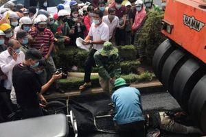 Tai nạn lao động hi hữu, xe lu đè chết công nhân làm đường