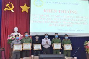 Huyện Châu Đức khen thưởng tập thể và cá nhân tham gia chữa cháy
