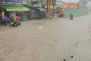 Đồng Nai xuất hiện mưa lớn, gây ngập nhiều nơi