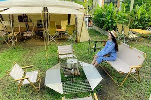Mô hình 'cà phê cắm trại' mới xuất hiện ở TP Thủ Đức