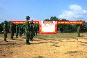 Trung đoàn 82 (Quân khu 2) tập huấn kiểm tra 3 tiếng nổ