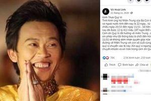 Bị thắc mắc 13 tỷ ủng hộ miền Trung, Hoài Linh phản ứng gì?