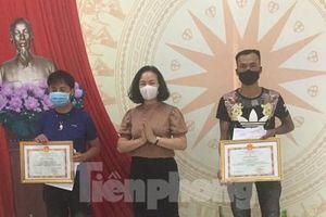 Khen thưởng 2 thanh niên cứu cô gái nhảy cầu Kỳ Cùng tự tử